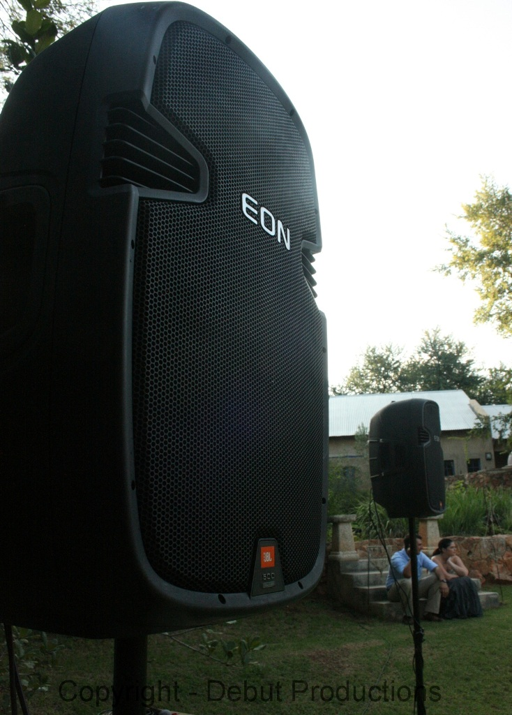 JBL Eon used at Golf Day